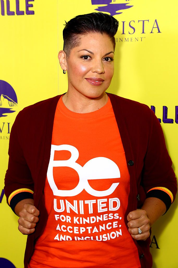 Sara Ramirez On Grey's Anatomy , Sara Ramirez played a bisexual doctor for years. But It wasn't until 2016 that the actress came out as a bisexual woman herself.