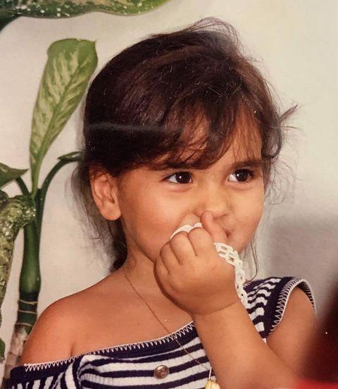 Sara Sálamo niña