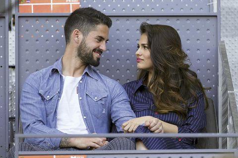 Sara Sálamo y el futbolista Isco Alarcón