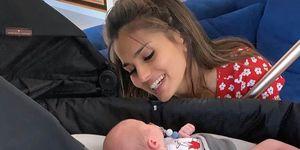 Sara Sálamo y su hijo