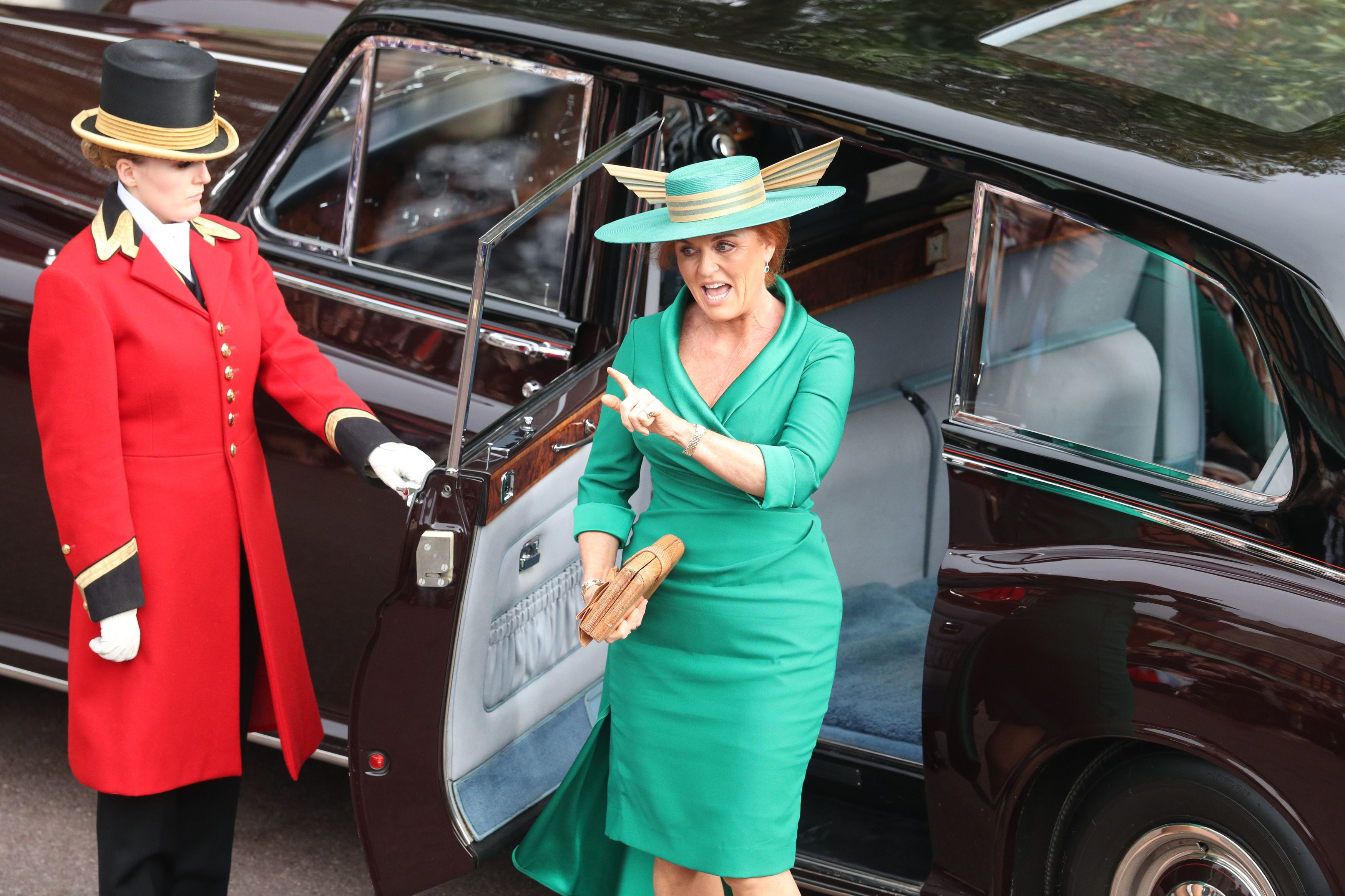 8323d251290 Sarah Ferguson made a sweet tribute with her Mother of the Bride outfit at  Princess Eugenie s wedding