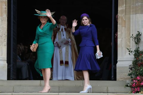 sarah ferguson was front and center at daughter princess eugenie s