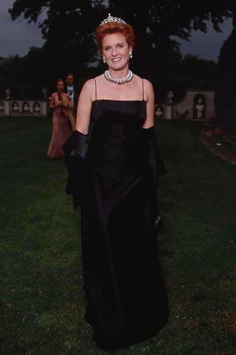 Sarah Ferguson at the 2001 White Tie and Tiara Ball