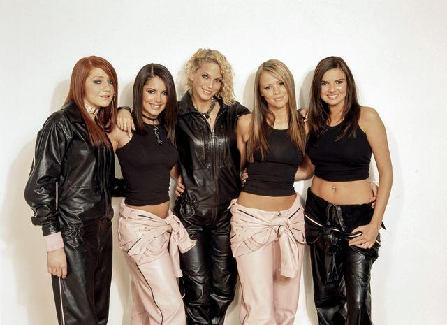 las girls aloud, en una foto de 2002