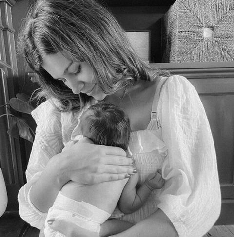 Sarah Tarleton and Baby with Jim Chapman