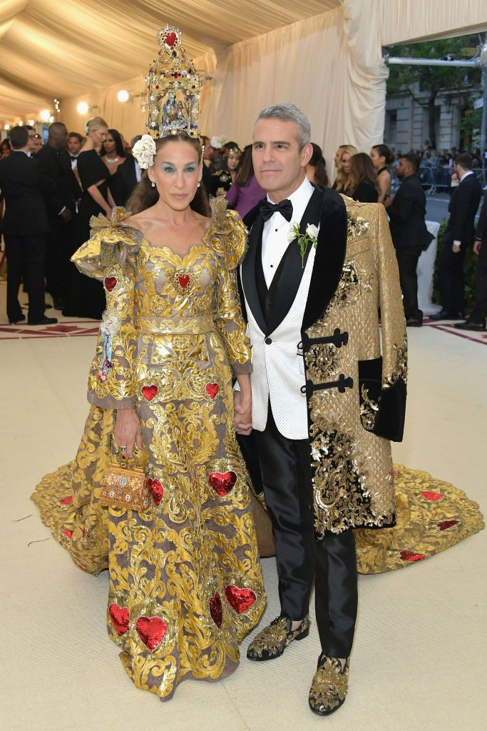 """Sarah Jessica Parker and Andy Cohen The iconic duo have been a staple on the Met Gala carpet for years, but neither can commit this time around. The Watch What Happens Live star told Entertainment Tonight that he and Parker are """" not going on Monday. She's on a plane somewhere, and I have to work."""""""