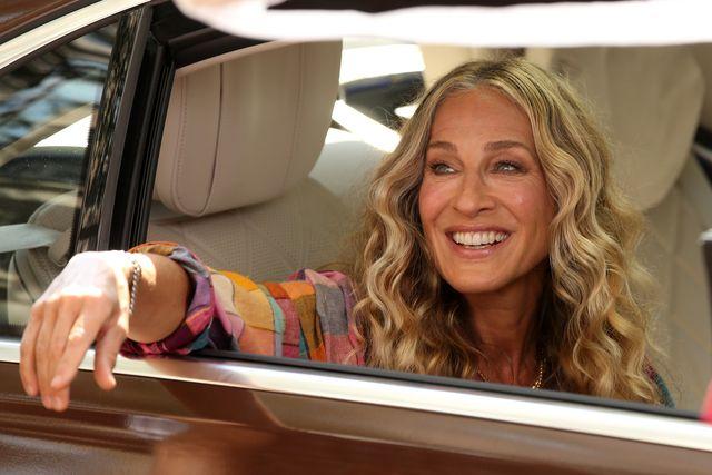 sarah jessica parker en el rodaje de 'and just like that'