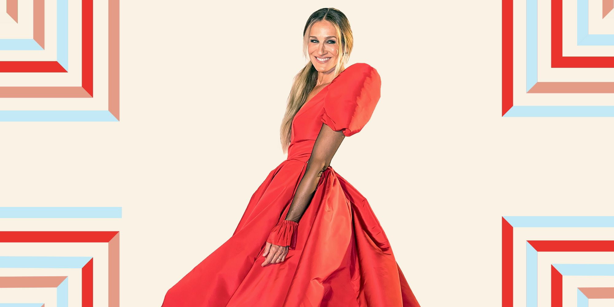 Sarah Jessica Parker Dazzles In A Dramatic Red Gown At New York City Ballet