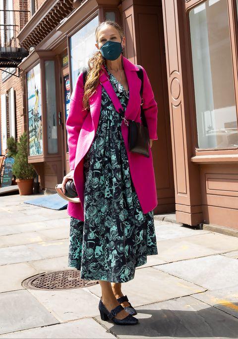 sarah jessica parker gebloemde jurk