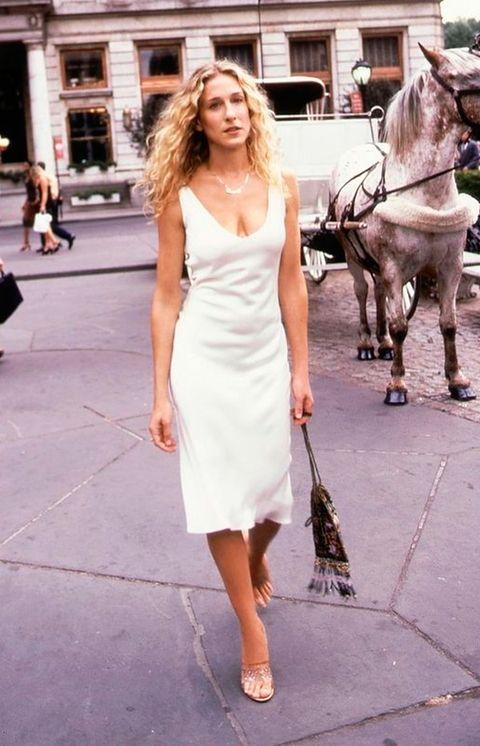 White, Clothing, Dress, Fashion, Street fashion, Shoulder, Pink, Snapshot, Footwear, Fashion model,