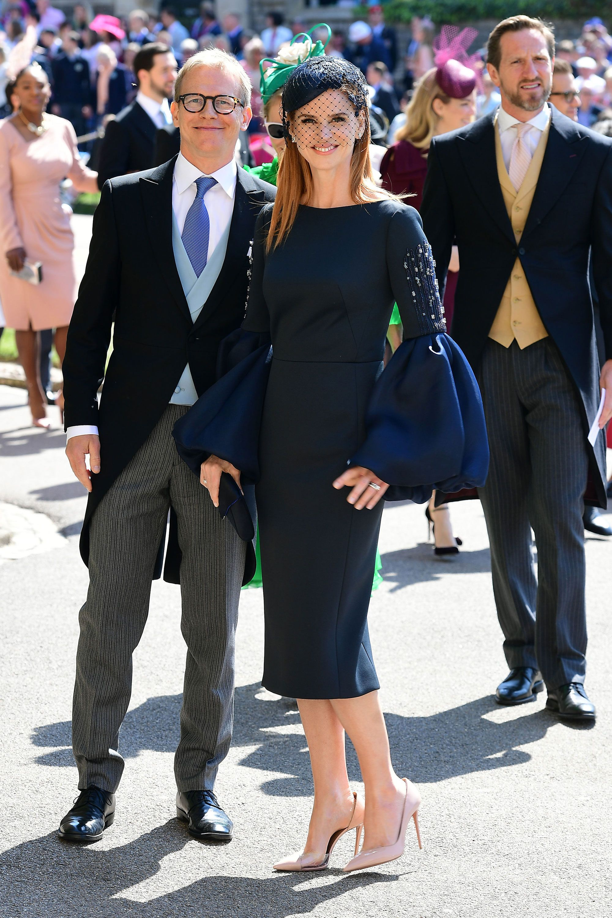 Sarah Rafferty at the royal wedding