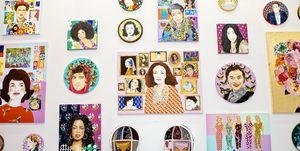 Sara Kerens, DVF, International Women's Day Dinner, Ashley Longshore Art Room