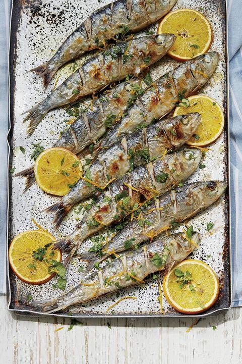 sardinas con gremolata de naranja