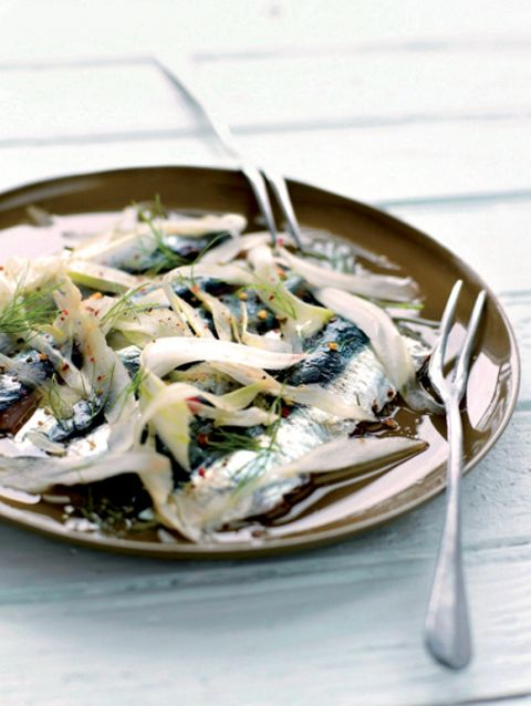 Sardines in venkel-koriandervinaigrette