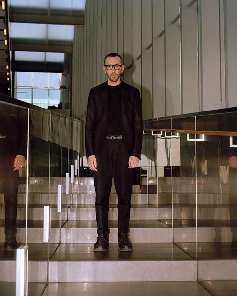 Alessandro Sartori fotografato  nella sede del gruppo Zegna a Milano.