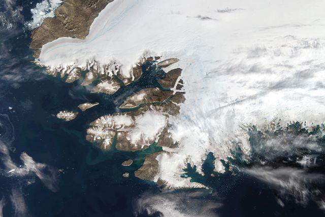 satellite views of northwestern greenland