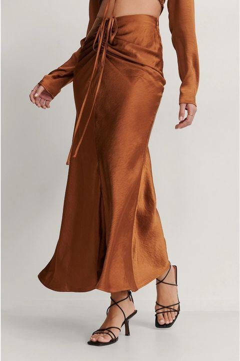 satijnen rok nakd trend, brown