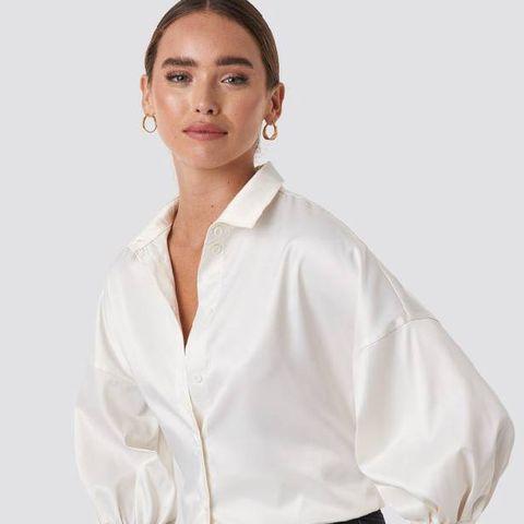 satijnen blouse trend