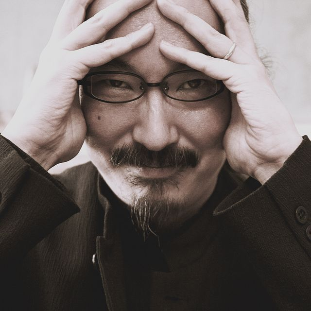 paris, france   october 13 director staoshi kon poses for a portrait session in paris in france on october 13, 2006 photo by laurent koffelgamma rapho via getty images