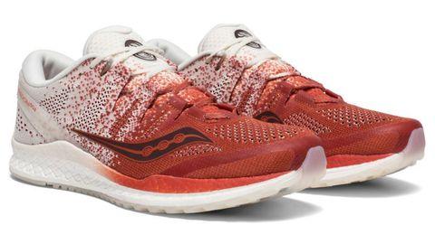 Footwear, Shoe, White, Orange, Red, Sneakers, Product, Outdoor shoe, Brown, Walking shoe,