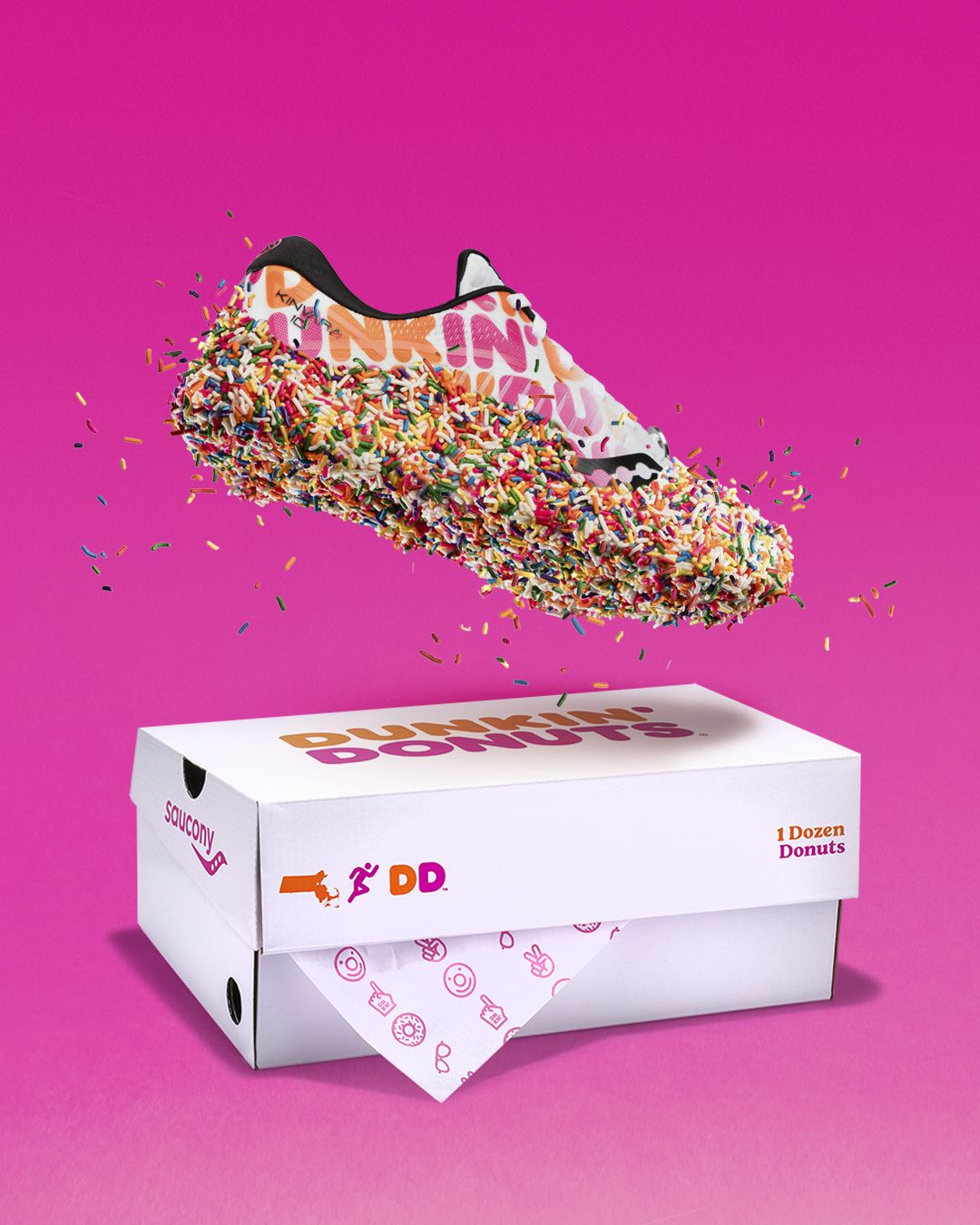 The Saucony Dunkin' Donuts Running Shoe