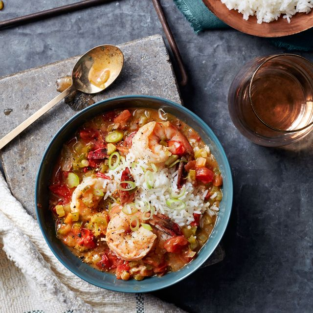 saucy creole shrimp