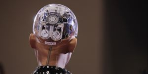 Humanoid Robot Sophia In Toronto