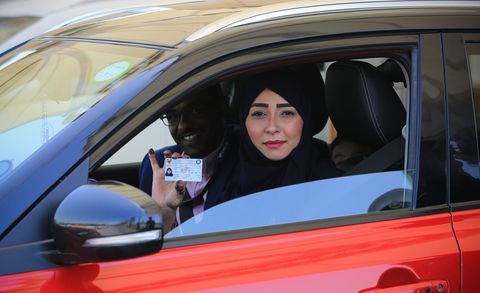 saudi women take the wheel for the first time in history