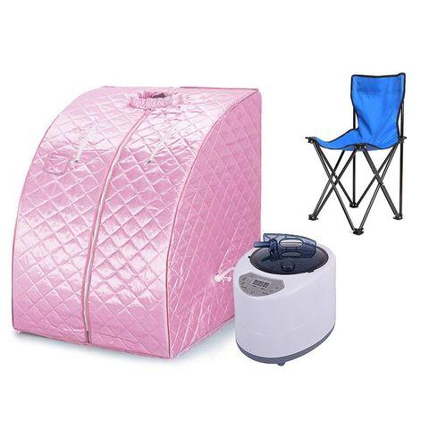 Sauna portátil de color rosa