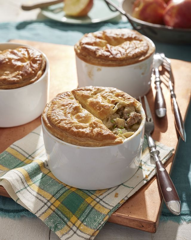 sausage and apple pies