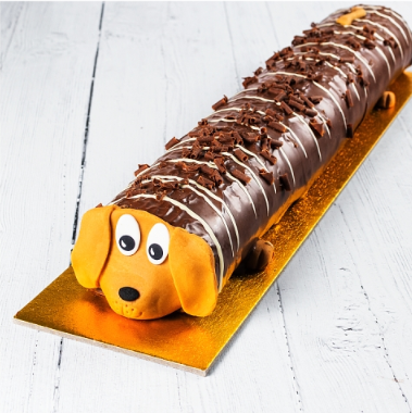 asda sid the sausage dog cake
