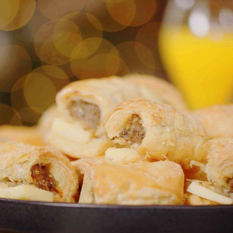 Nadia Sawalha sausage rolls and cheddar cheese