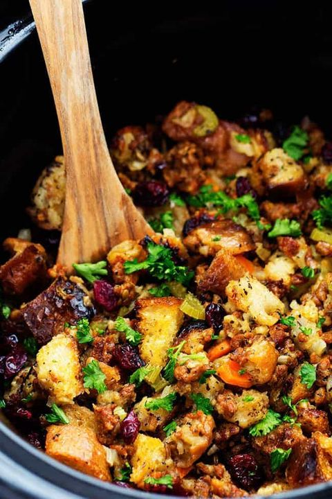 slow cooker thanksgiving recipes stuffing