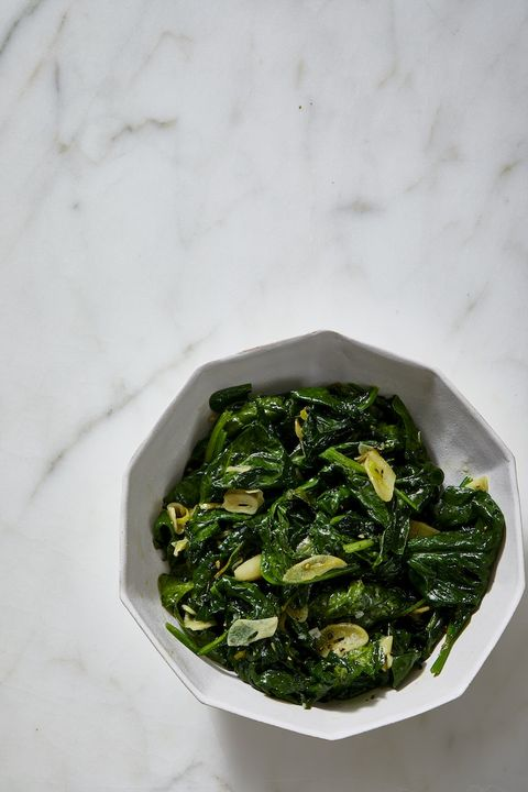 christmas dinner side dishes - sauteed spinach