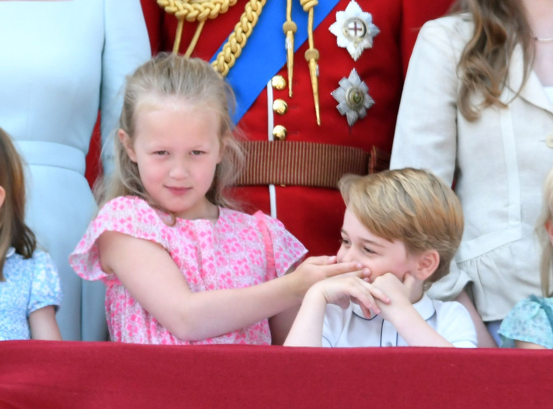savannah phillips shushes prince george