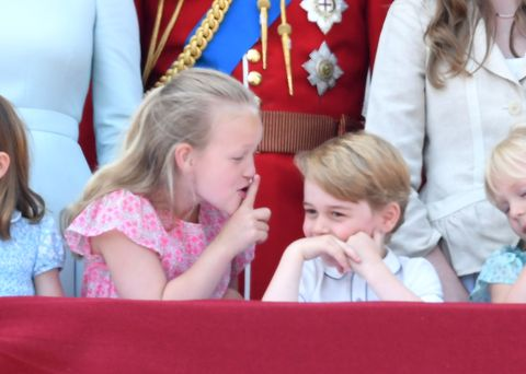 savannah phillips shushes prince george