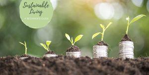 Saving money concept, Money stack growing
