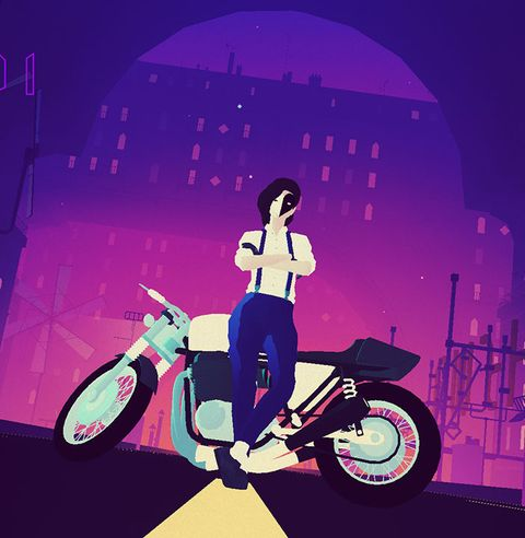 Illustration, Vehicle, Purple, Art, Scooter, Graphic design, Motorcycle, Vespa,