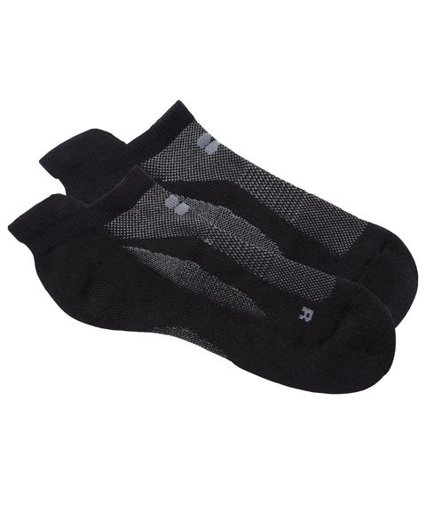 More Mile Performance Running Socklet Black Ventilated Mesh Race Sock Socks Clothing & Accessories