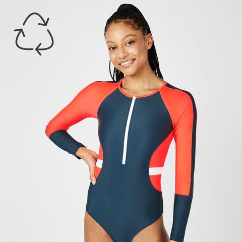 Sleeve, Shoulder, Sportswear, Joint, Thigh, Leotard, Swimwear, One-piece swimsuit, Tights, Spandex,