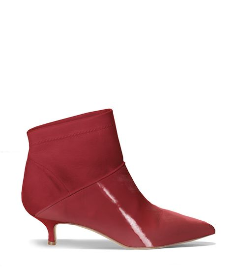 Footwear, Shoe, Red, Boot, Leather, High heels, Magenta, Suede, Wedge, Durango boot,