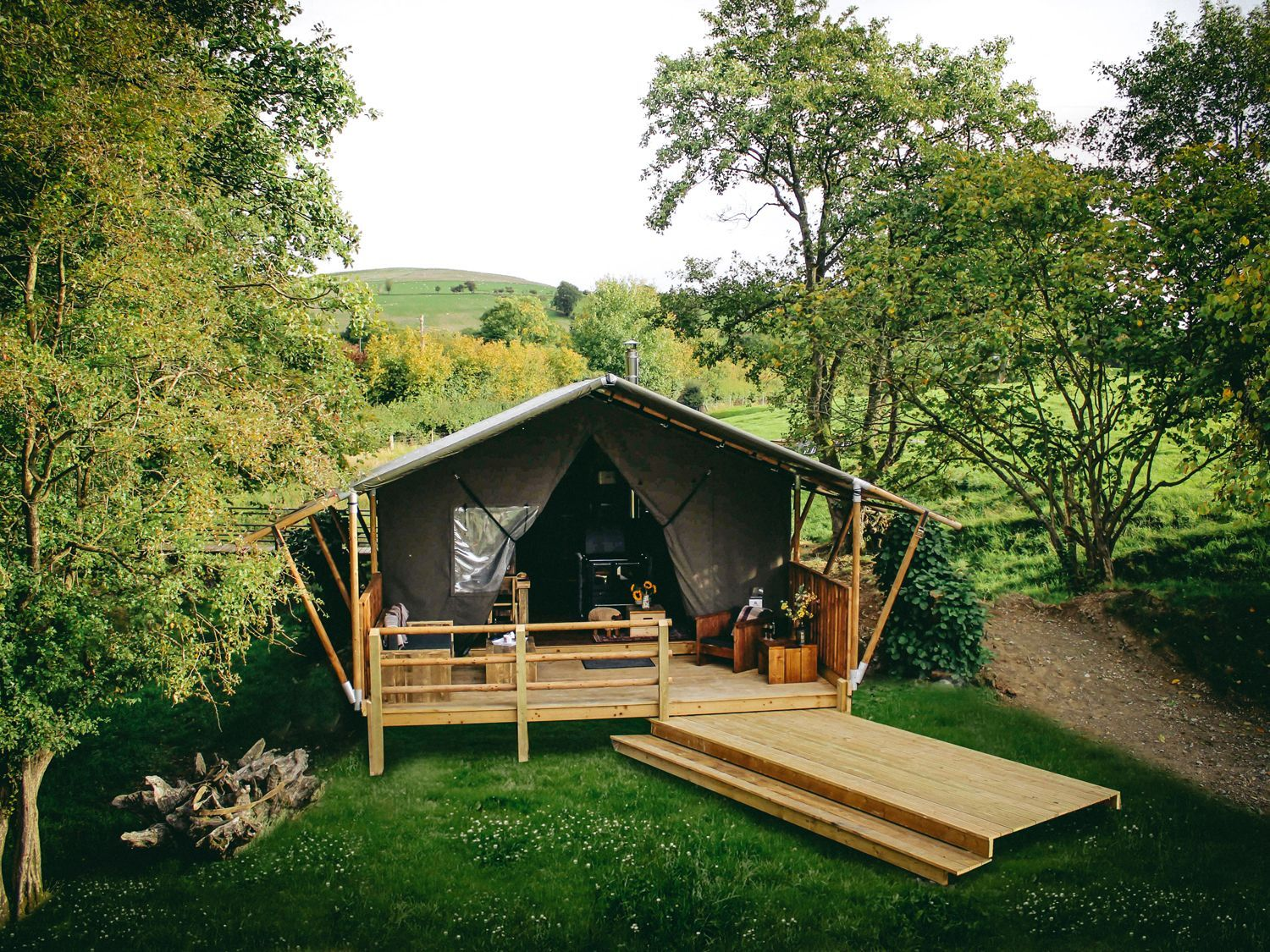 This safari tent in Wales has all the credentials for a wild escape