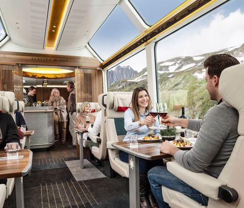 Restaurant, Brunch, Meal, Interior design, Room, Building, Breakfast, Lunch, Vehicle, Vacation,
