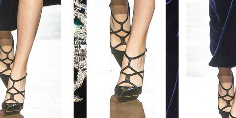 Scarpe moda inverno 2019  13 modelli con il tacco dalle sfilate ... e3c51fa9601