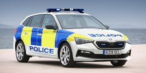 Skoda Scala de policía británica