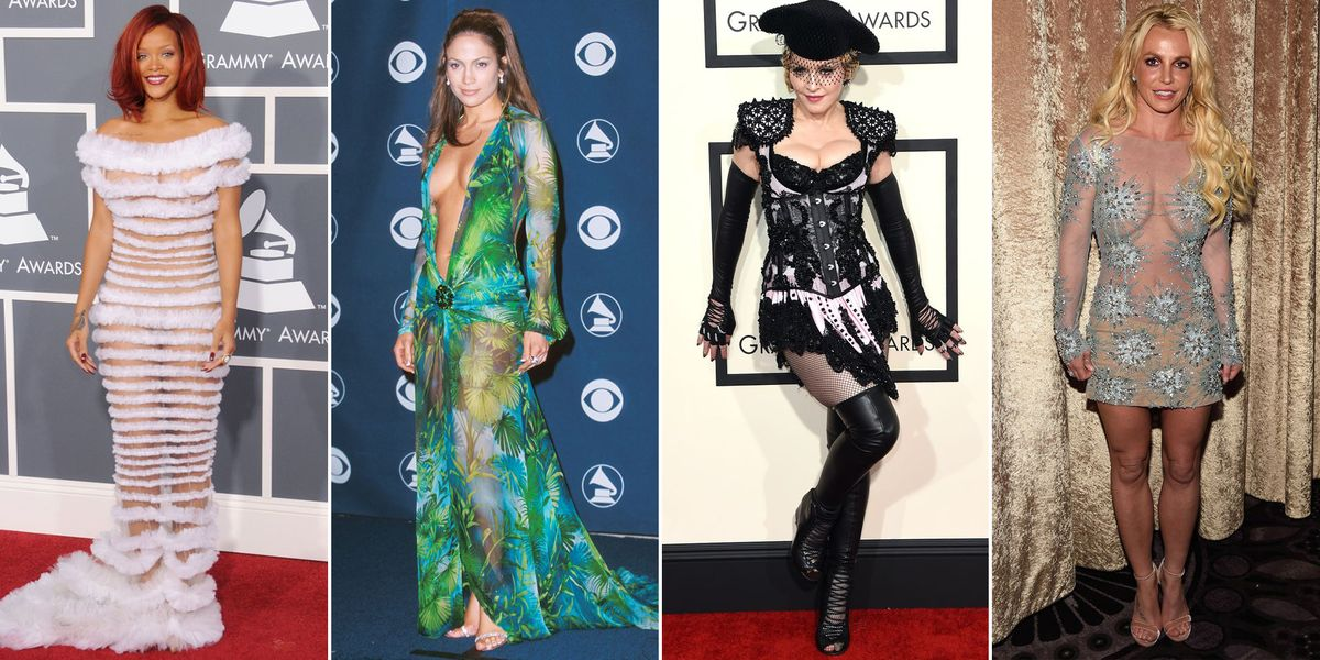 The Most Scandalous Grammys Red Carpet Fashion of All Time