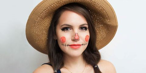 44e042db31b Scarecrow Halloween Makeup Tutorial for 2019 - Easy DIY Halloween ...