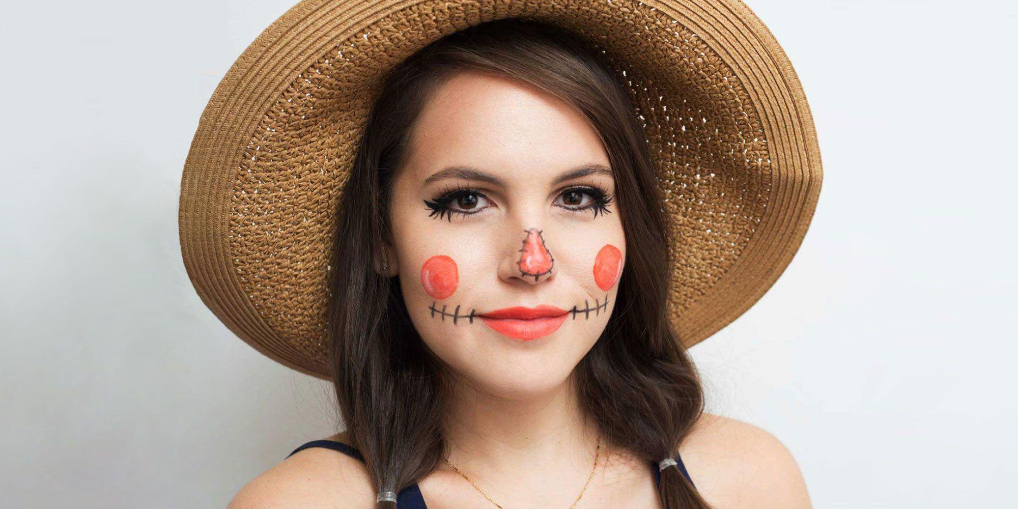 Scarecrow Halloween Makeup Tutorial for 2019 , Easy DIY