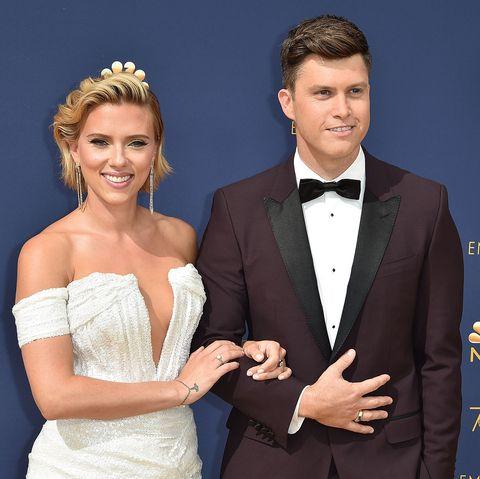 Scarlett Johansson engagement ring colin jost