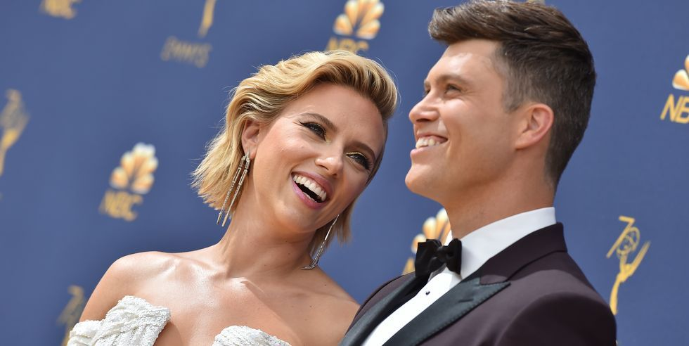 The Truth Behind Scarlett Johansson And Colin Jost's Body Language